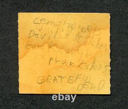 1970 Grateful Dead Ken Kesey Pranksters Concert Ticket Stub Cincinnati RARE