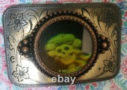 1971 Rarest Of Rare Grateful Dead Buckle. Hologram is so epic. 1st buckle 1971