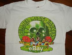 1978 GRATEFUL DEAD & SANTANA vtg rare rock concert t-shirt (M) 70's Outlaws
