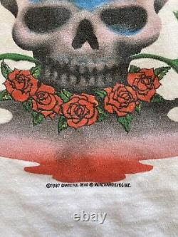 1987 Grateful Dead Shirt M/L SANTANA GDM SKULL ROSES RARE HTF VINTAGE