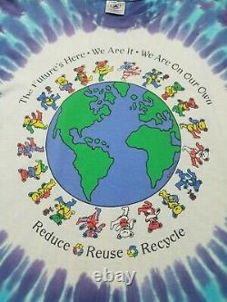 1992 Vintage Grateful Dead Reduce Reuse Recycle tie dye shirt Size L RARE