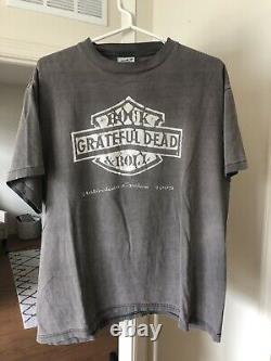 1995 Grateful Dead Harley Davidson Unbroken Cycles Tour RARE XL Concert Tour