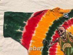 1996 Lithuania Olympic Basketball Tie Dye Shirt Sz. XL Grateful Dead RARE