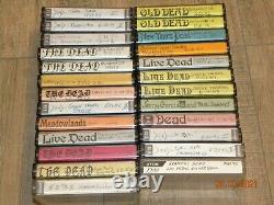 (25) Grateful Dead Live cassette lot 70's 80's 90's RARE