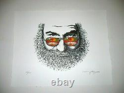 AJ Masthay print Palm Sunday Jerry Garcia Grateful Dead MINT & rare stella blue