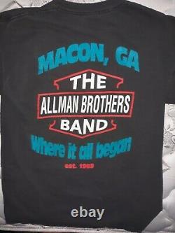 Allman Brothers Band 1992 shirt rare vintage Large Lynyrd Skynyrd Grateful Dead