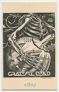 CREW ONLY GRATEFUL DEAD Super Rare FALL 1989 Concert Tour Itinerary Book