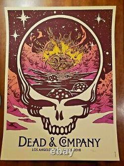 Dead & Company Poster Los Angeles, CA 2018 RARE Phish Grateful and Co GDP LA