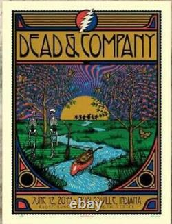 Dead and Company Deer Creek 2019 GDP Poster Bears Butterfly SUMMER TOUR RARE LE