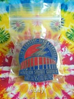 Dead and Company Pin 2015 New York City Madison Square Garden Hat shirt pin RARE