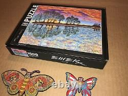 EMEK Guitar Island Puzzle Limited Edition Signed and Two Rare Grateful Dead Pins