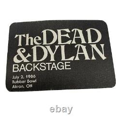 Extremely Rare GRATEFUL DEAD/BOB DYLAN 1986 Backstage Pass & Ticket Rubber Bowl