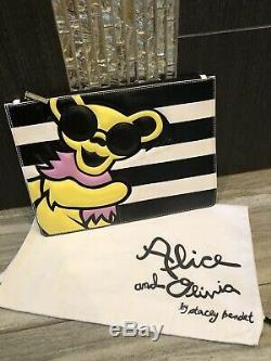FUN! Alice + Olivia Grateful Dead Bear Clutch- Time Capsule Collection RARE