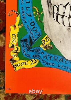 Fd-82 Grateful Dead Denver Co 1967 Family Dog Original Poster Near Mint Rare