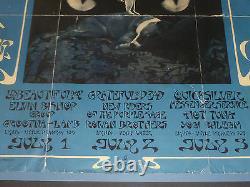 Framed 1971 Boz Scaggs Graham Fillmore West Poster Grateful Dead Bg-287 Rare Bgp