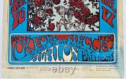 GRATEFUL DEAD 1977 FD26-RP-4 Skeleton & Roses Ultra Rare Concert Poster