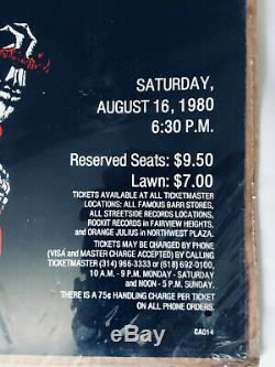 GRATEFUL DEAD 1980 Mississippi River Festival Blues for Allah Poster Rare Unopen