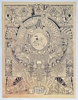 GRATEFUL DEAD 1983 MAUREEN CALLAHAN Montage Rock Poster Rare 1st Print BG FD AOR