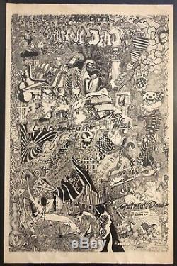 GRATEFUL DEAD 1988 Long Beach CA Rock Concert Poster Rare 1st Print BG FD AOR
