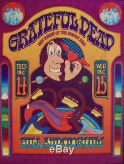 GRATEFUL DEAD ANN ARBOR 1971 concert poster GARY GRIMSHAW VERY RARE