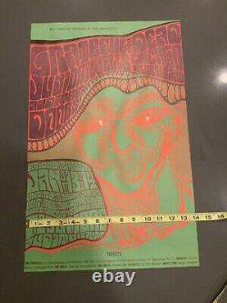 GRATEFUL DEAD DOORS BG45 OP1 TypeB FILLMORE concert poster BILL GRAHAM 1966 RARE