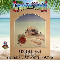 GRATEFUL DEAD Original 1ST Print 1981 Europe Tour Concert Poster Rare AOR FD BG