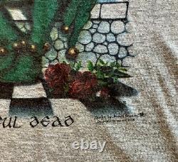 GRATEFUL DEAD SHIRT VINTAGE 1973 Jester Ringer Wake of the Flood LP Rare