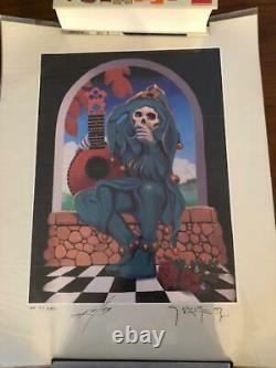 GRATEFUL DEAD The Jester Poster Artist Proof #'d /250 MOUSE KELLEY SIGNED RARE