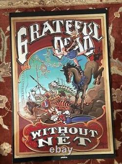 GRATEFUL DEAD Without A Net rare promotional poster from 1990 FANTASTIC