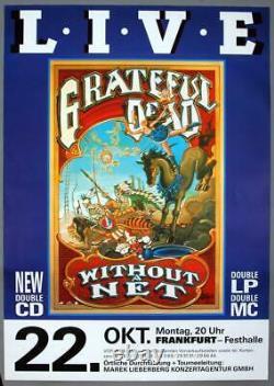 GRATEFUL DEAD rare vintage original Frankfurt 1990 concert poster HUGE