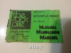 Grateful Dead 1969 Rockpile Toronto Stick On Flyer Used Vg Rare Clean Vtg Htf