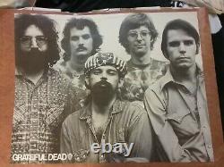Grateful Dead 1970s Wb Promo Poster Vg Factory Folded Rare Pinholes Tear Vtg Htf