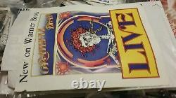Grateful Dead 1971 Live Warner Promo Poster Vg Tears Miss Piece Rare Htf Vtg