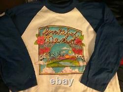 Grateful Dead 1982 River Dancing Raglan Shirt M Nmint Rare Clean Vtg Htf