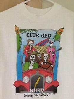 Grateful Dead 1987 CLUB JED Vintage Shirt Rare HEY NOW PRODUCTIONS CLUB DEAD NOS