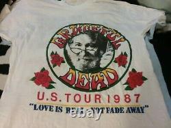 Grateful Dead 1987 Mountain Aire 1 Stich Shirt M Ds Unworn Rare Spots Htf Vtg