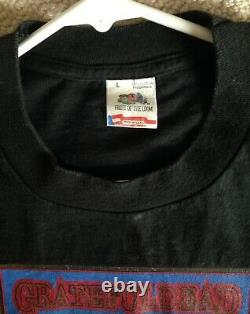 Grateful Dead 1989 FALL TOUR Vintage Shirt Warlocks Hampton Coliseum Miami RARE