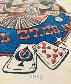 Grateful Dead 1991 Spring Tour Las Vegas Shirt XL Vintage Rare Jerry Garcia