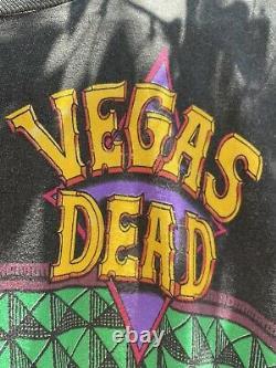Grateful Dead 1992 Las Vegas Vintage Shirt Liquid Blue Mega Print Ultra Rare GDM