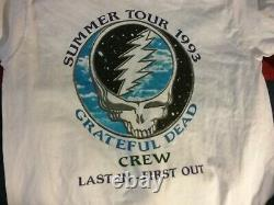 Grateful Dead 1993 Summer Tour Crew Shirt XL L Nmint Rare Clean Vtg Htf