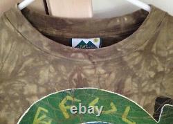 Grateful Dead 1994 GDM Vintage Shirt Rare BATIK TAURUS BULL Monitor Lizard Gecko
