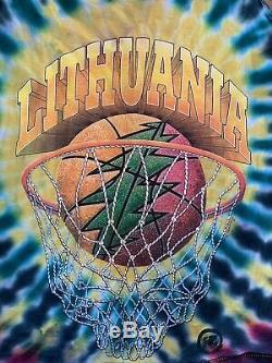 Grateful Dead 1996 Lithuania Basketball Team Tie Dye RARE Tank Top Shirt Sz XL