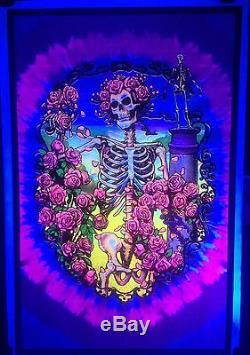 Grateful Dead 30th Anniversary 2011 Vintage Blacklight Poster Rare Original Rose