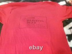 Grateful Dead 3 1981 Rainbow Crew 1 Stich Shirt M Vg Rare Hole Never See Htf Vtg