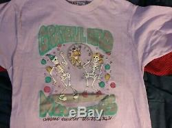 Grateful Dead 87/88 New Year 1 Stich Shirt M Nmint Rare Puff Print Clean Htf Vtg