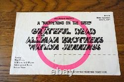Grateful Dead Allman Brothers 1973-05-27 Day on The Green Very Rare Handbill