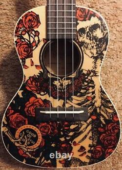 Grateful Dead Alvarez Concert Ukelele Skull & Roses Bertha Rare! GDU26C-Roses