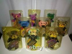 Grateful Dead Beanie Baby Bears First Edition 9 Piece Collection Rare