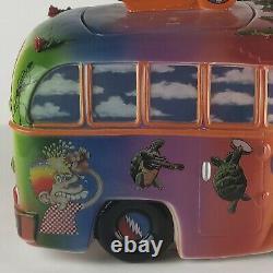 Grateful Dead Bus Cookie Jar, Vandor, Ceramic, RARE & COLORFUL #57