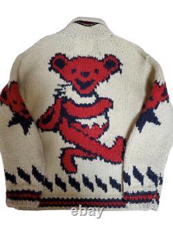Grateful Dead Canadian Sweater Dead Bear Limited Cowichan Sweater Rare Japan